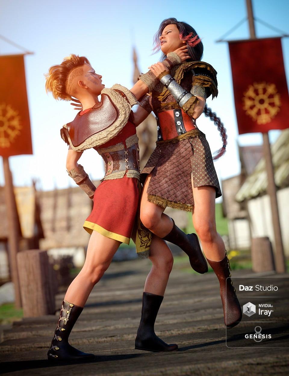 Tribal Warrior Queen Outfit Textures