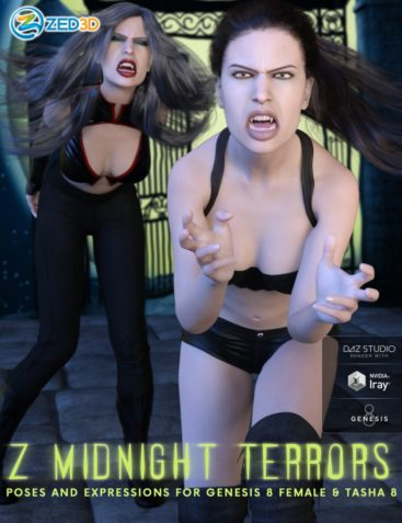 Z Midnight Terrors Poses and Expressions for Genesis 8 Female and Tasha 8