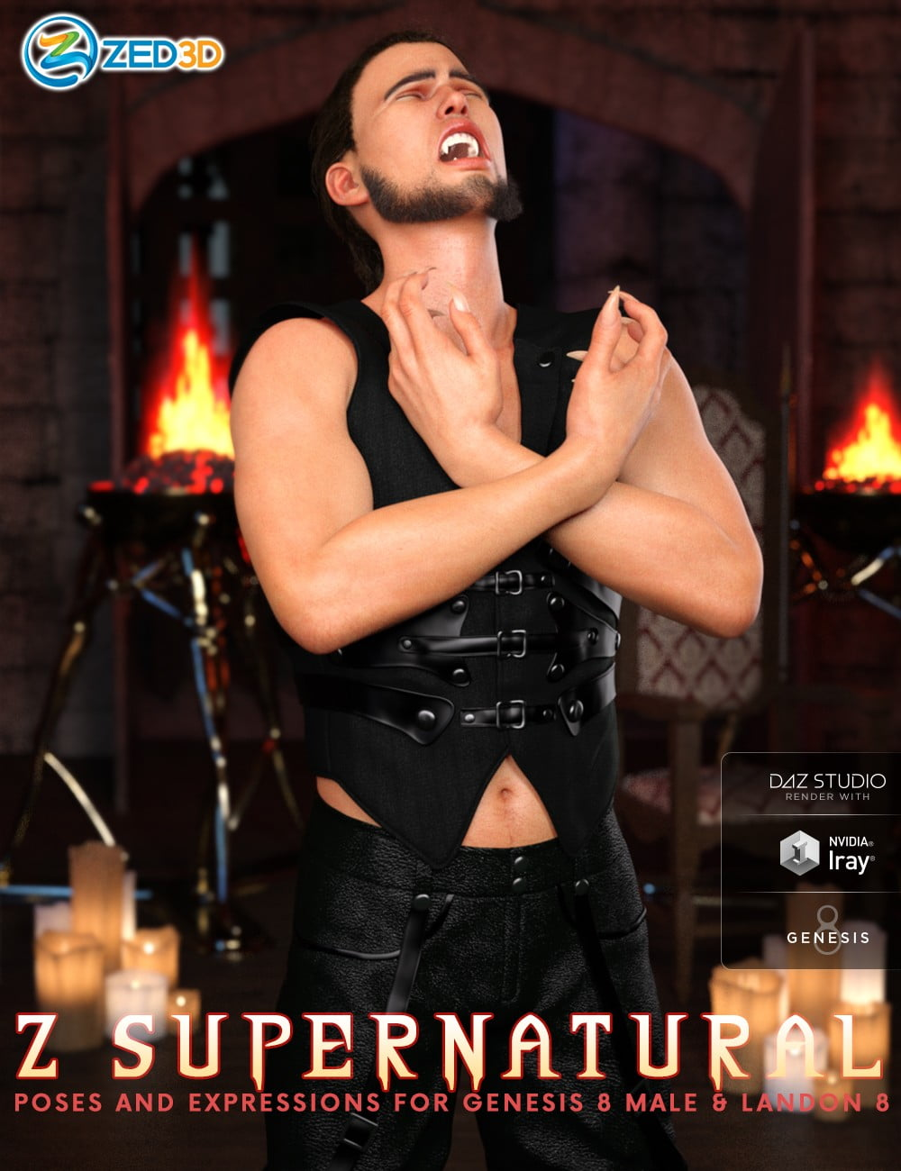 Z Supernatural Poses and Expressions for Genesis 8 Male and Landon 8