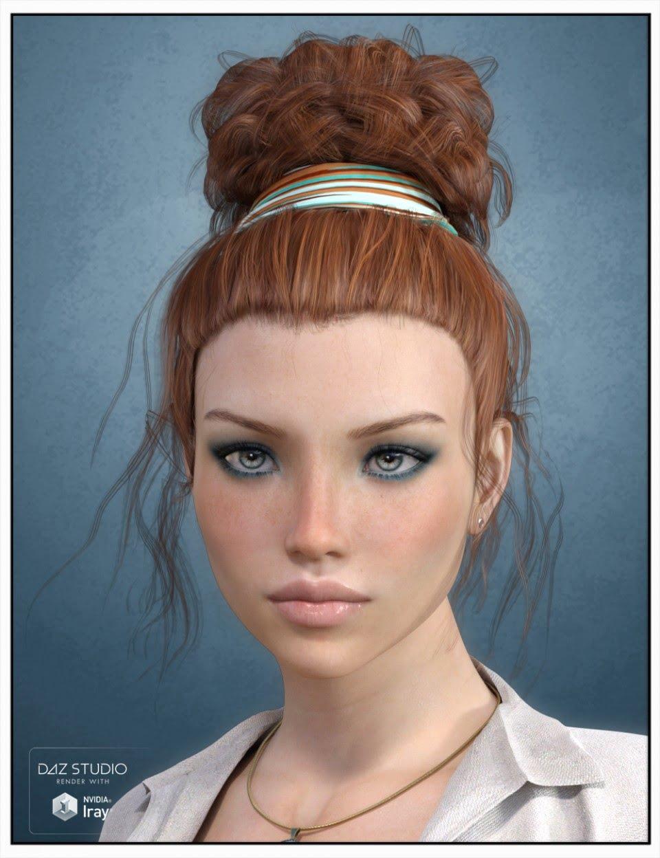 Lauran Hair for Genesis 3 Female(s)