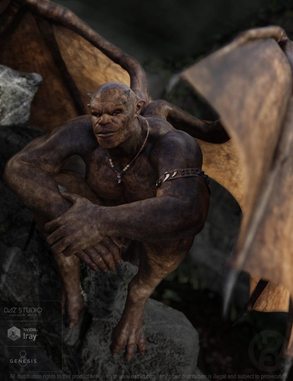 Gargoyle for Genesis 8 Male