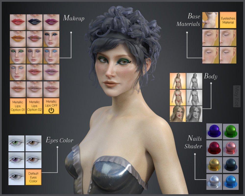 Olenka for Genesis 8 Female