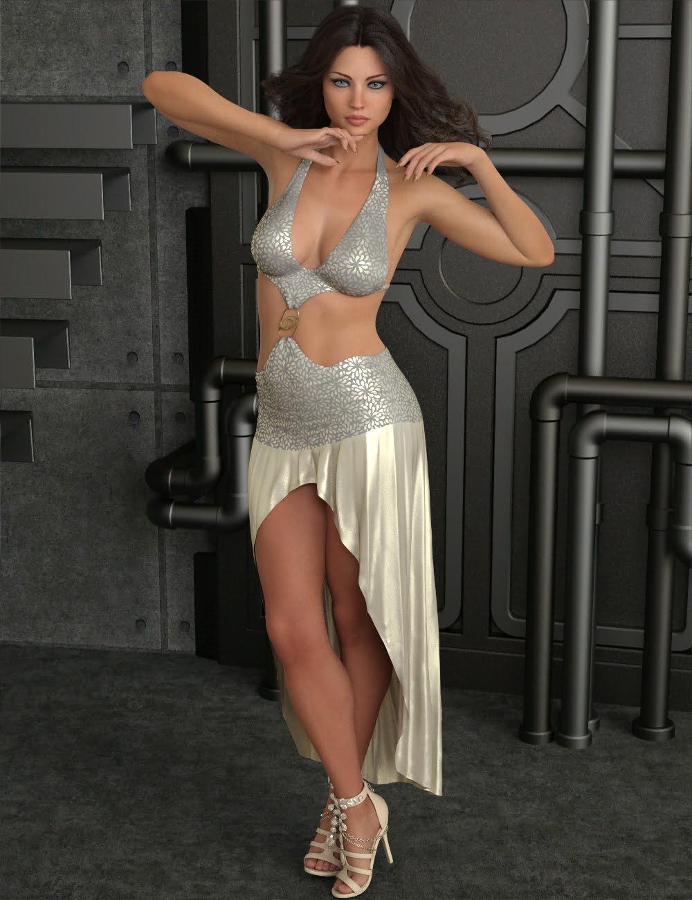 InStyle - dForce Night Shine Dress for Genesis 8 Females