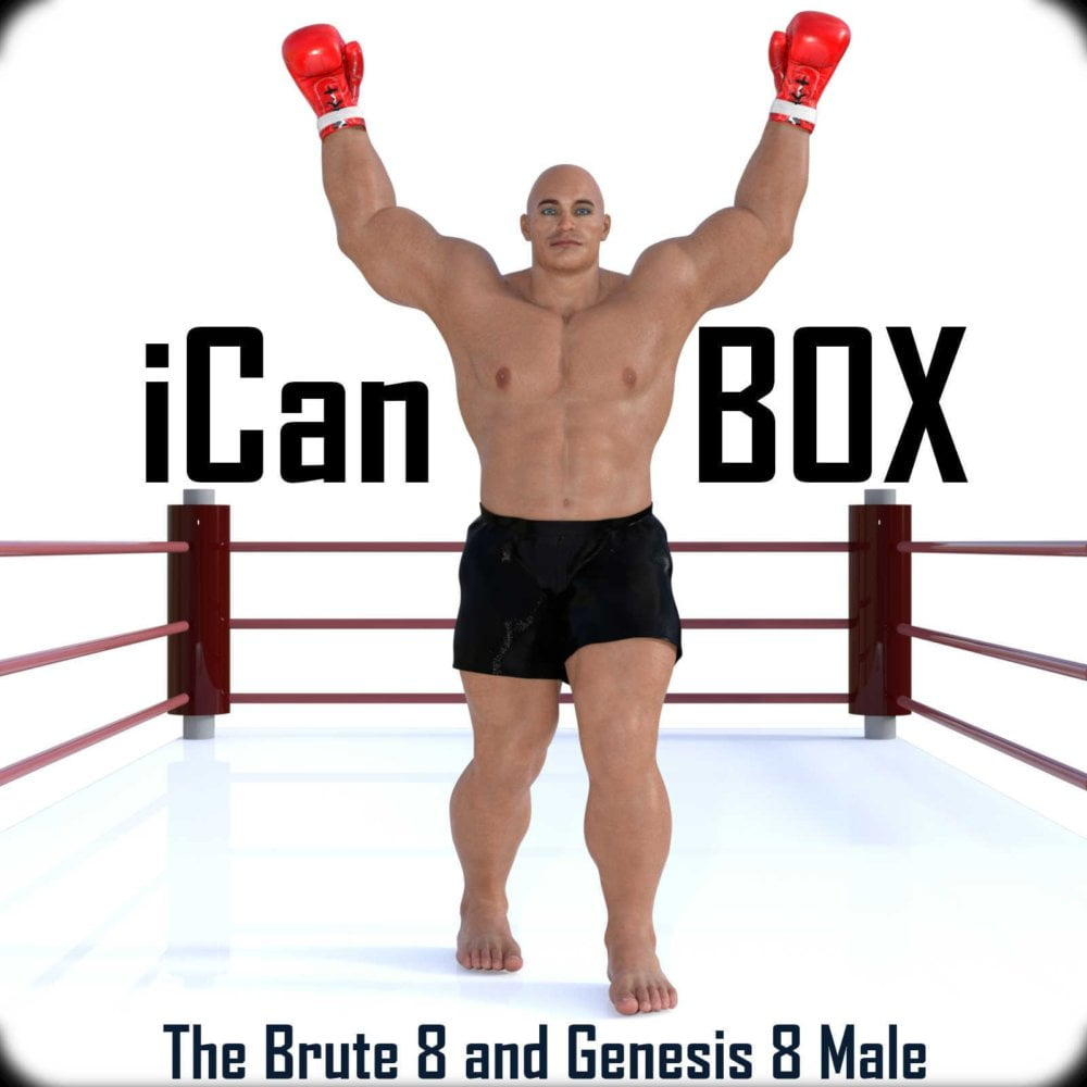 iCan BOX Poses for The Brute 8 and Genesis 8 Male in Daz Studio