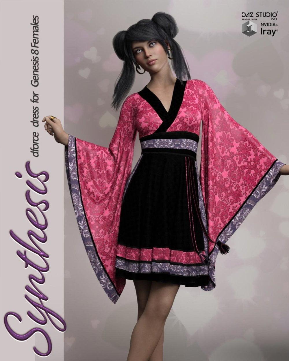 Synthesis dForce dress for Genesis 8 Females