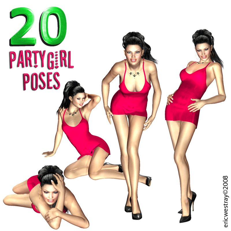 20 Party Girl Poses for V4
