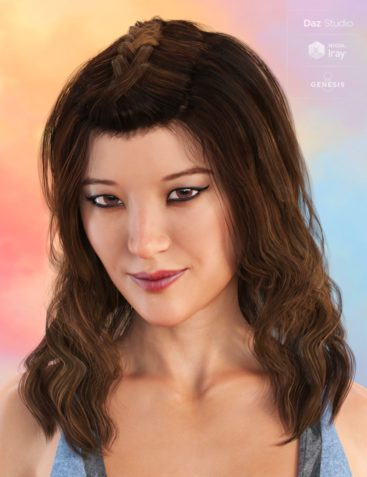 Cecilia Curls Hair for Genesis 8 and 3 Female(s)