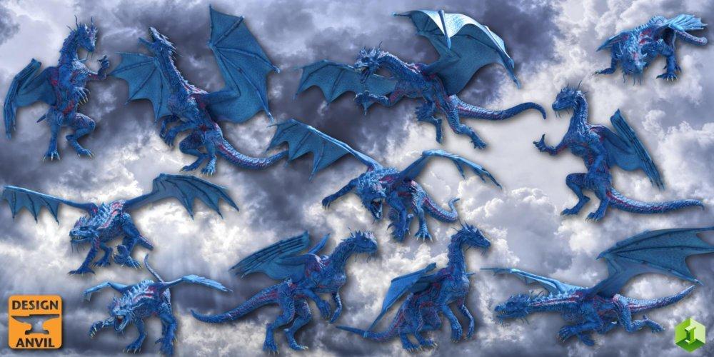 DA Blue Dragon HD for Daz Dragon 3