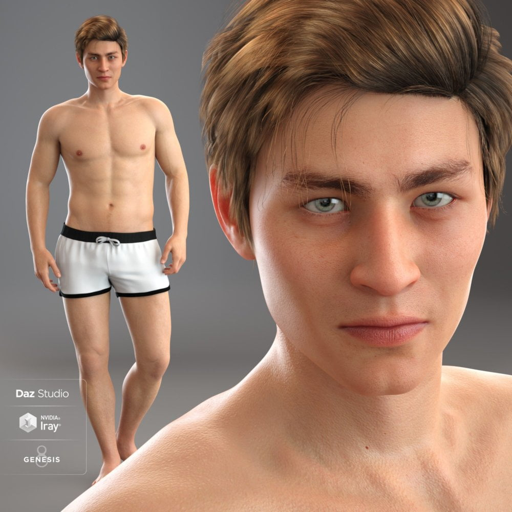 Mesmerizing Faces & Bodies for Genesis 8 Male