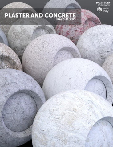 Plaster and Concrete - Iray Shaders