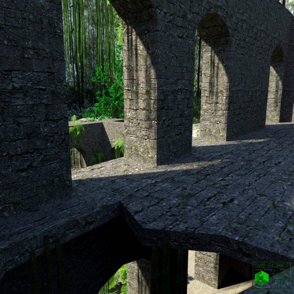 Ruins in the forest DAZ