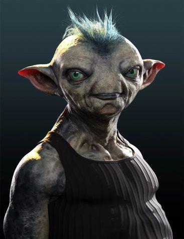 Mervin the Alien HD for Genesis 8 Male