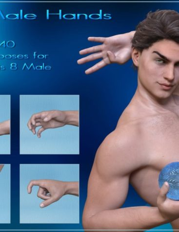 All Male Hands - Hands Poses for Genesis 8 Male