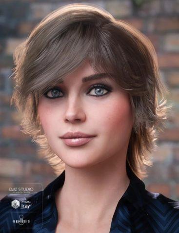 Greer Hair for Genesis 8 Female(s)