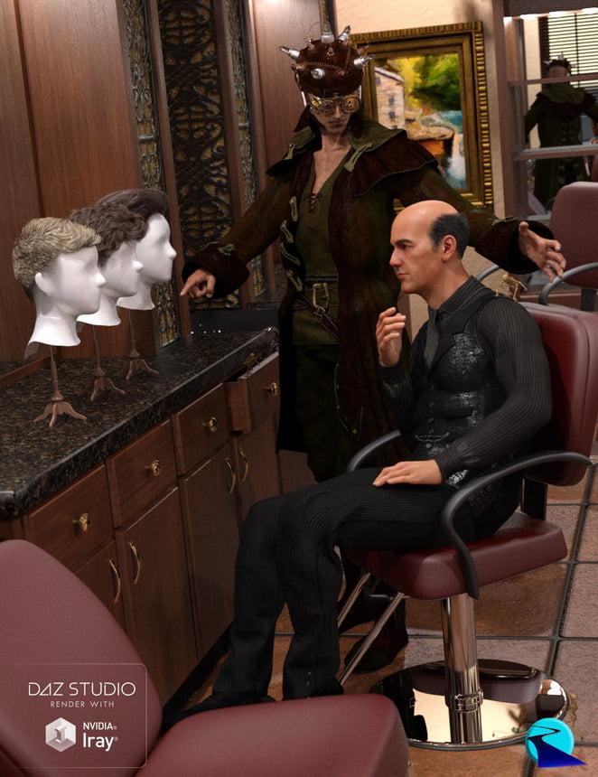 Hair Converter from Genesis 3 Male to Genesis 8 Male
