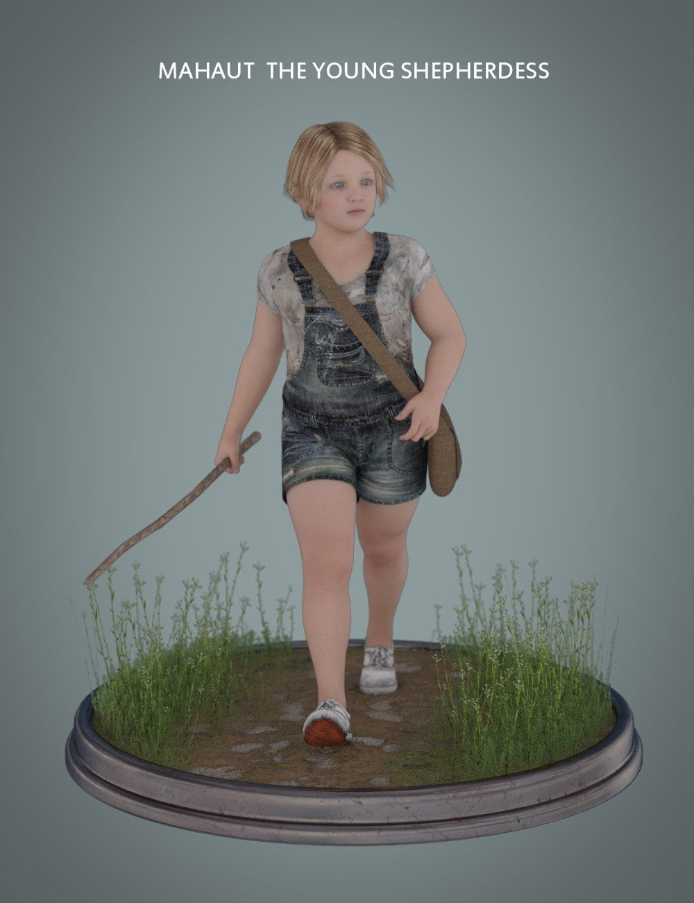 Mahaut The Young Shepherdess for Genesis 3 and 8 Female