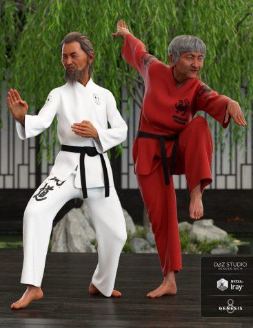 dForce Karate Gi Textures