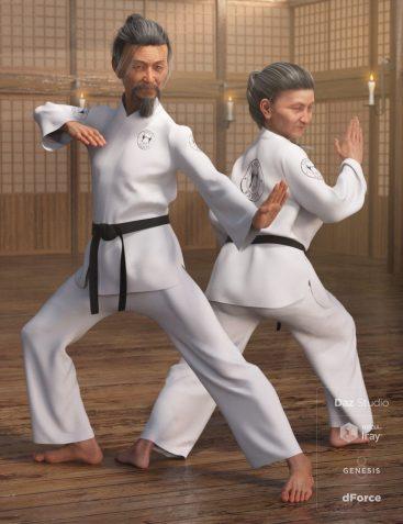 dForce Karate Gi for Genesis 8