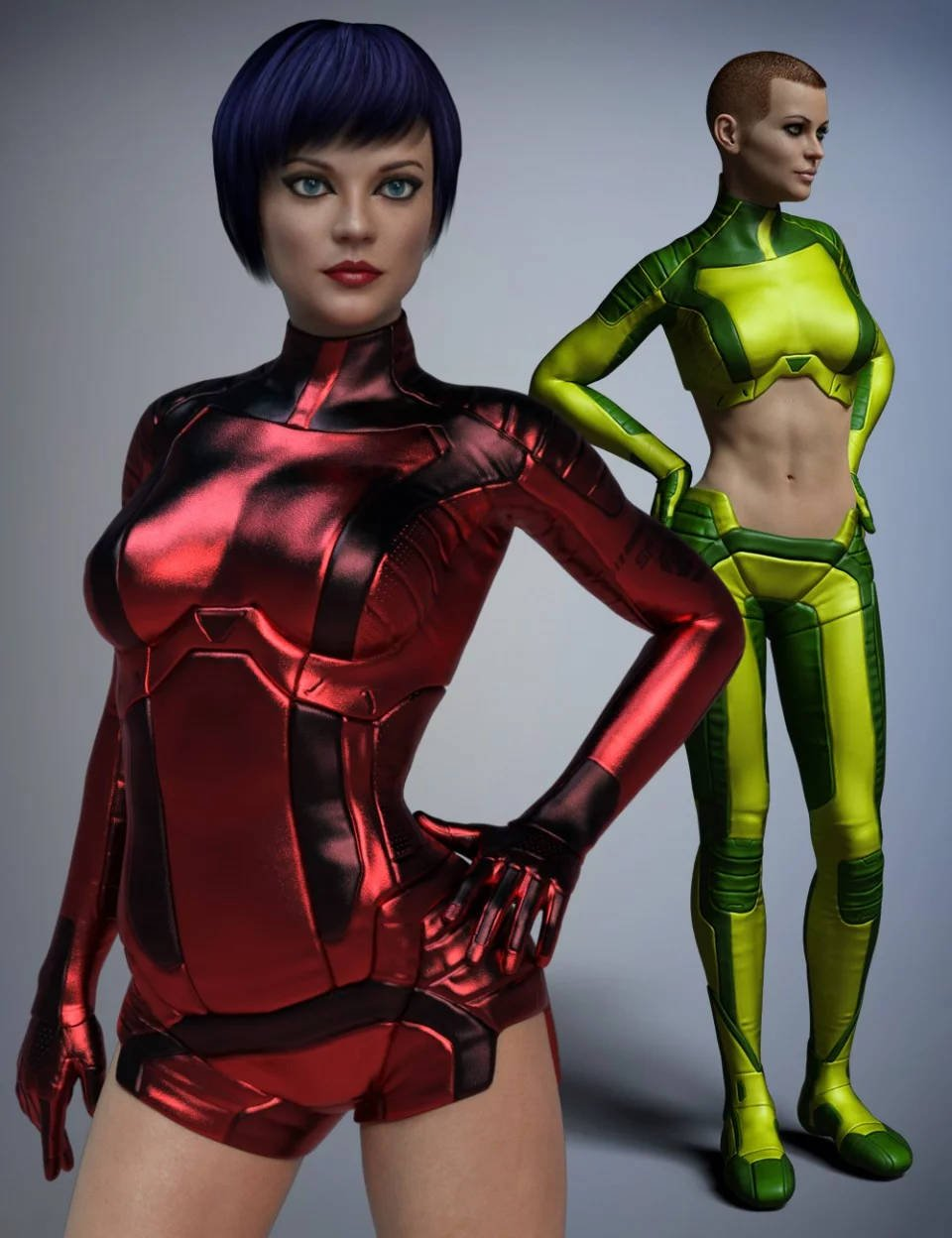 Space Uniform for Genesis 8 Female(s)