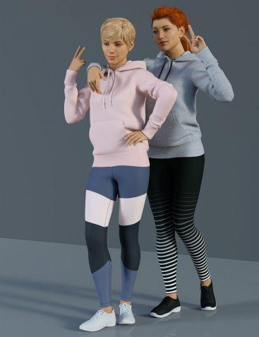 H&C Hoodie & Training Wear for Genesis 8 Female(s)