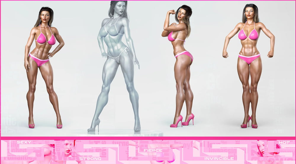 Z Sexy Bodybuilder Shape Preset and Poses for Genesis 8 Female