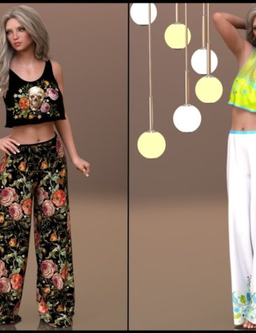 7th Ave: dForce - Lounging Pants Suit for G8F