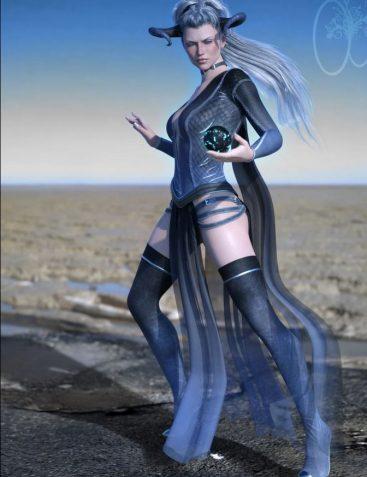 CB dForce Dark Essence Outfit for Genesis 8 Female(s)