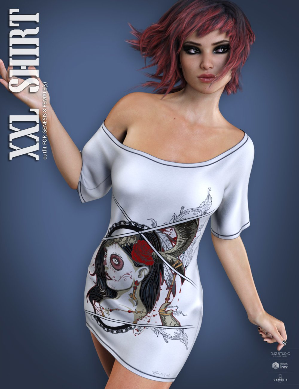 dForce XXL Shirt for Genesis 8 Females
