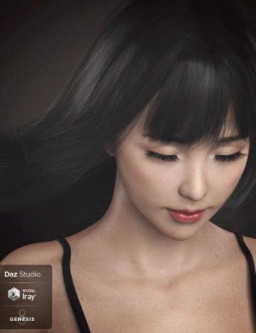 Grace Yong and Grace Yong Hair for Genesis 8 Female(s)