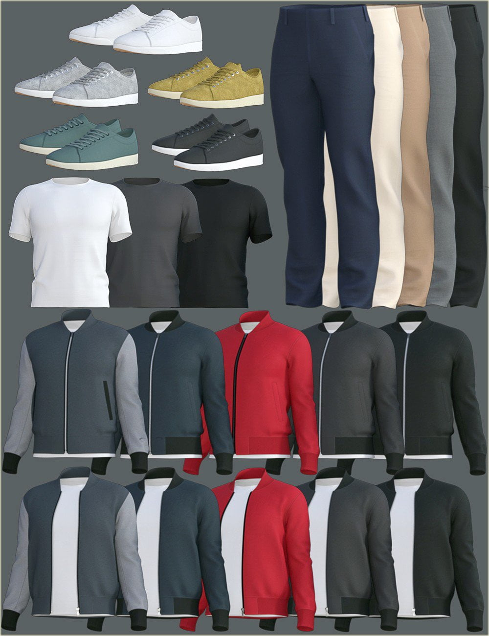 H&C dForce Basic Jacket Outfit for Genesis 8 Male(s)
