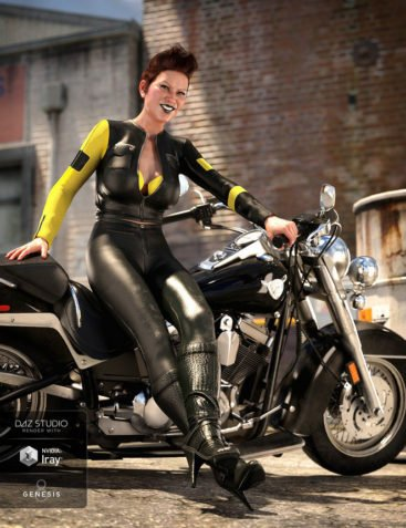 Moto Vixen Outfit for Genesis 8 Female(s)