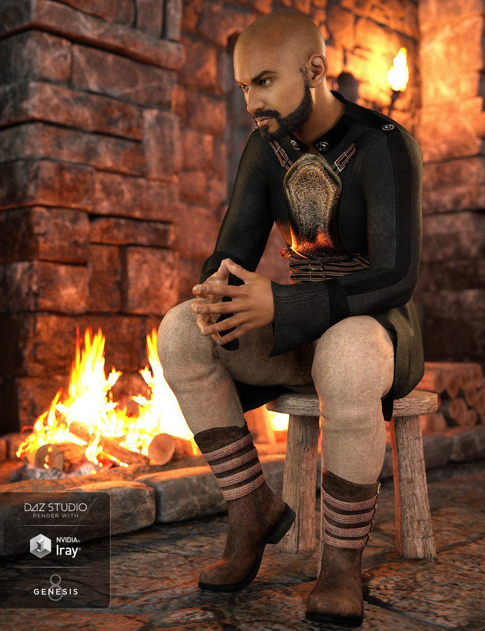 dForce Alpha Male Outfit for Genesis 8 Male(s)