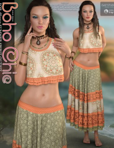 Boho Chic for dForce Summer Spirit Outfit G8F