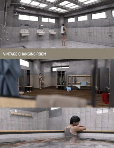 Vintage Changing Room and Props