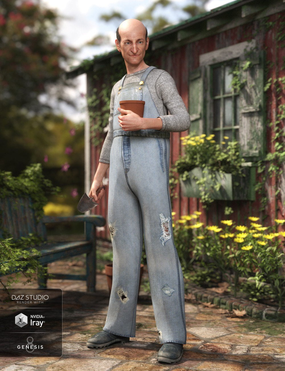 dForce Overalls Outfit Textures