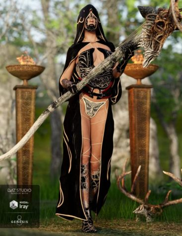 dforce Order of the Huntress The Acolyte Outfit for Genesis 8 Female(s)
