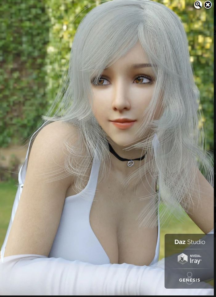 Lancy Character with dForce Hair and Expressions for Genesis 8 Female