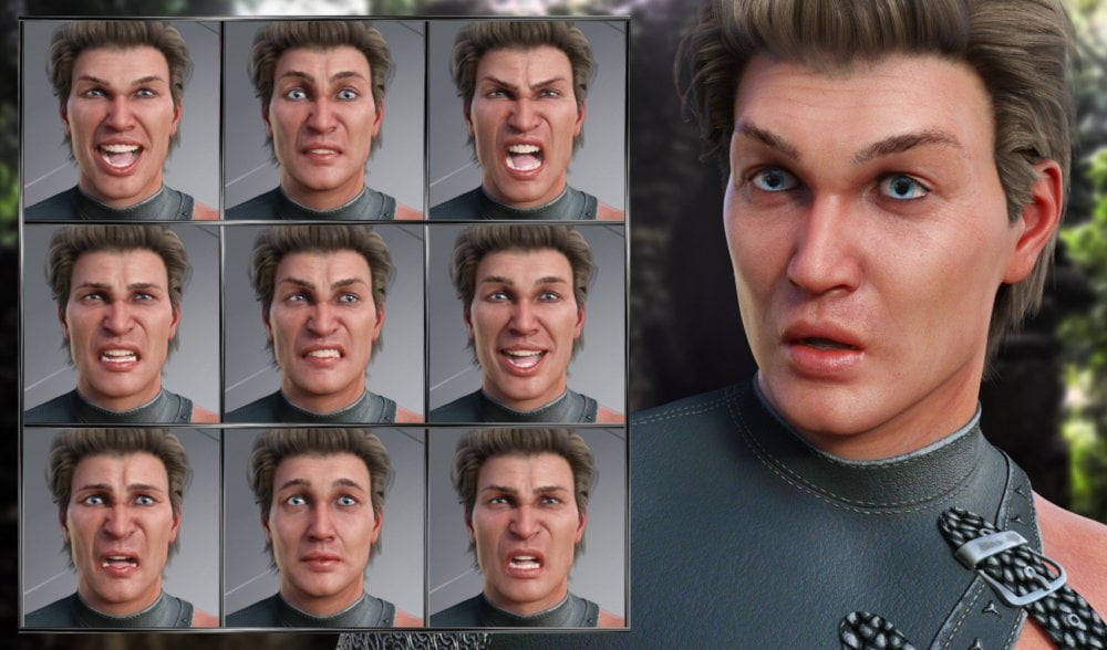 Courageous - Expressions for Genesis 8 Male and Elios 8