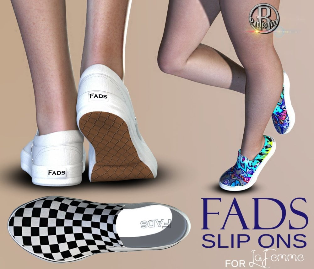 FADS Slip Ons for La Femme and Poser 11
