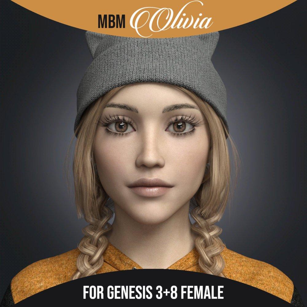 MbM Olivia for Genesis 3 and 8 Female