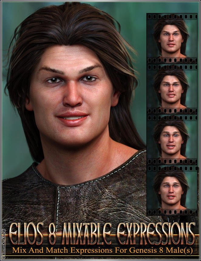 Mixable Expressions for Elios 8 and Genesis 8 Male(s)