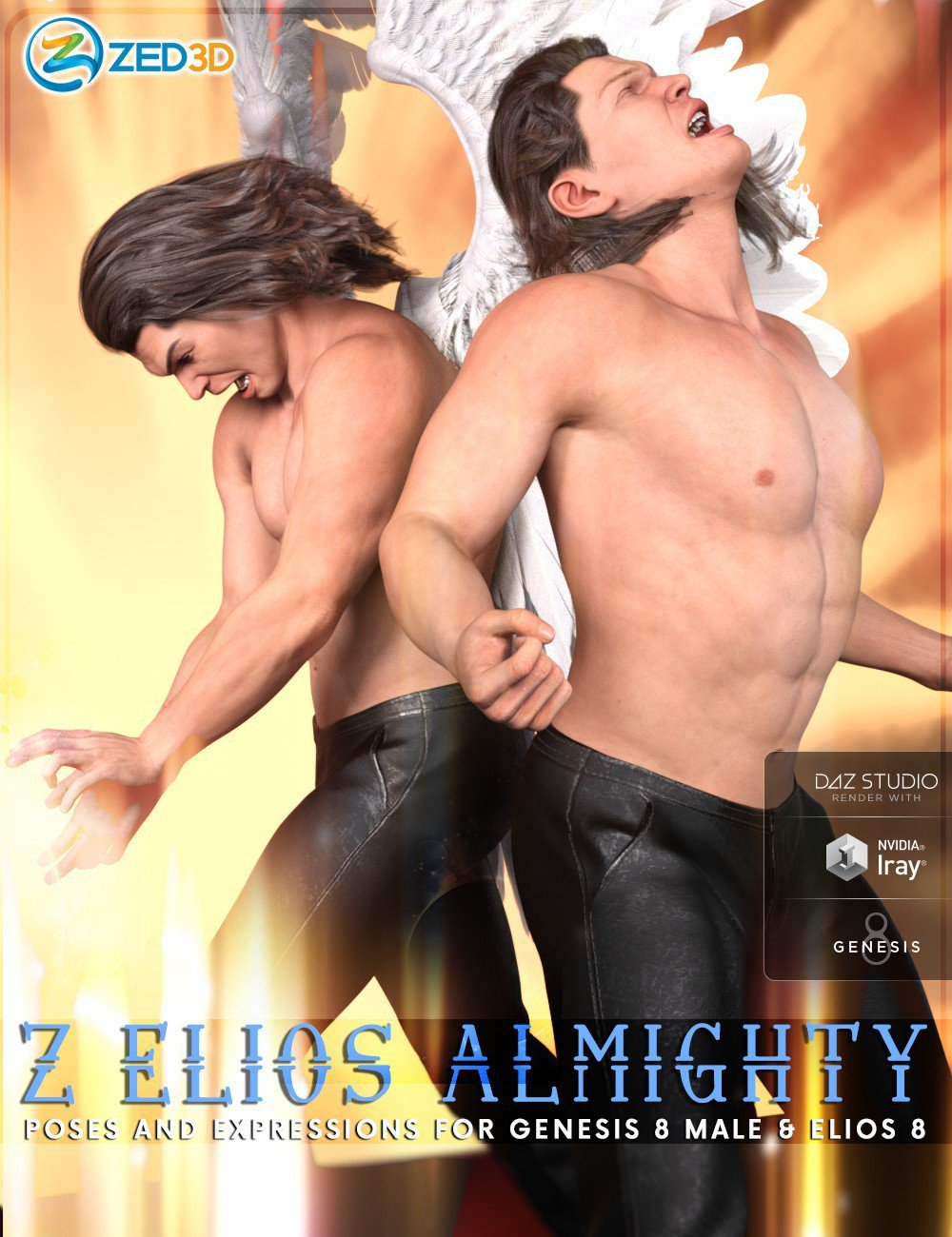 Z Elios Almighty Poses and Expressions for Genesis 8 Male and Elios 8