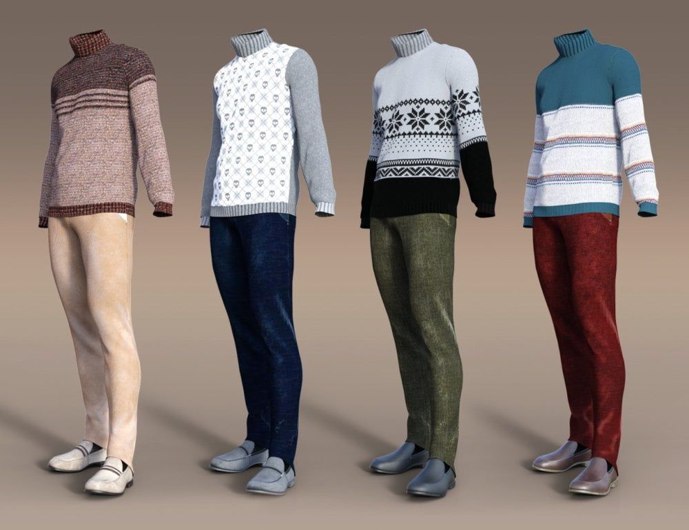 dForce Sweater Outfit Textures