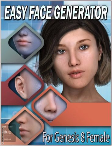 EJ Easy Face Generator For Genesis 8 Female(s)