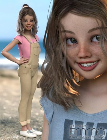 Emma Character, Hair, Clothing and Accessories for Genesis 8 Female(s)