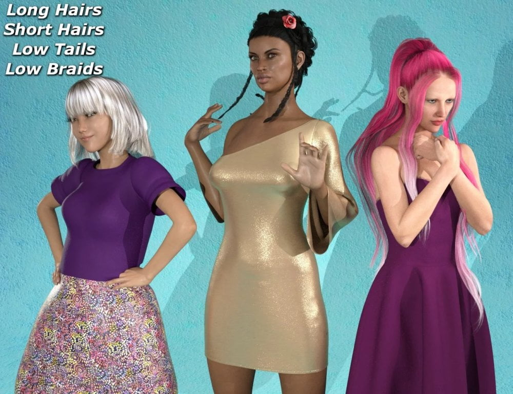 RSSY Hair Converter from Victoria 4 to Genesis 8 Female
