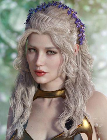 Valeria Hair for Genesis 3 & 8 Female(s)