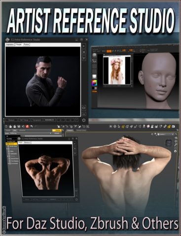 EJ Artist Reference Studio for Daz Studio Zbrush and Others