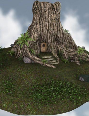 Tree Stump Home