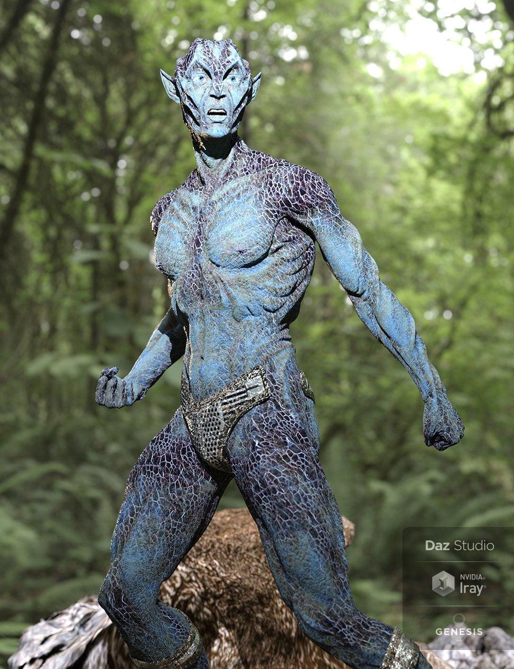 Oumua HD Alien Creature for Genesis 8 Male